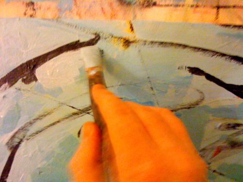 Abstract painting tutorial for Abstract watercolor painting tutorial