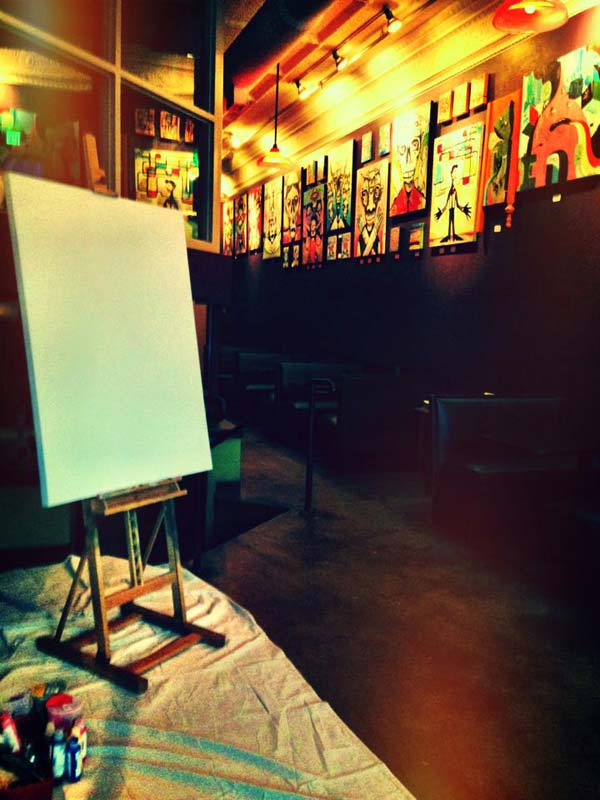Michael Herring Live Painting - Stage 1