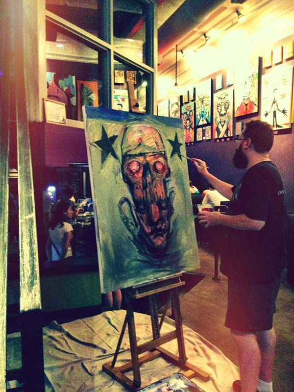 Michael Herring Live Painting - Stage 2