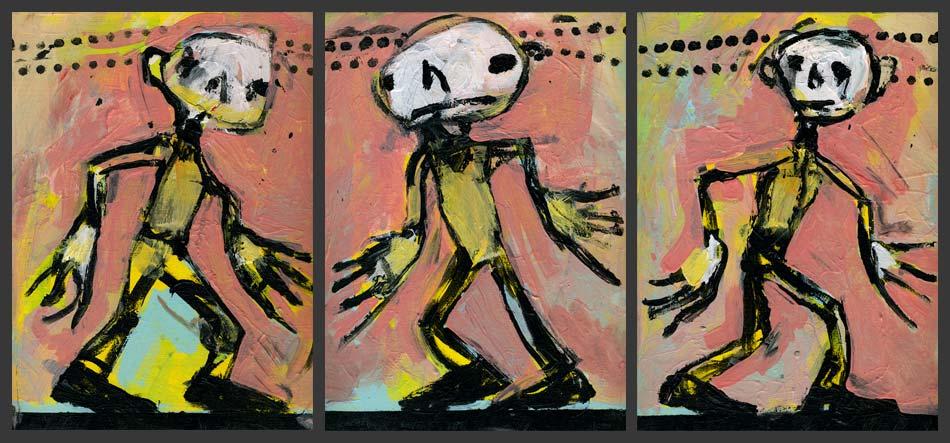 running-man-triptych