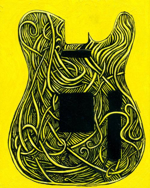 Guitar Painting – Banana