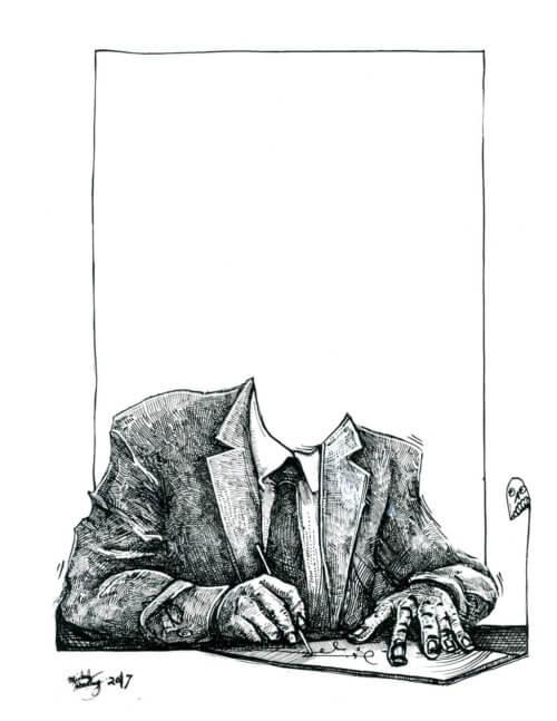 Suit Drawing 002 – Signatory
