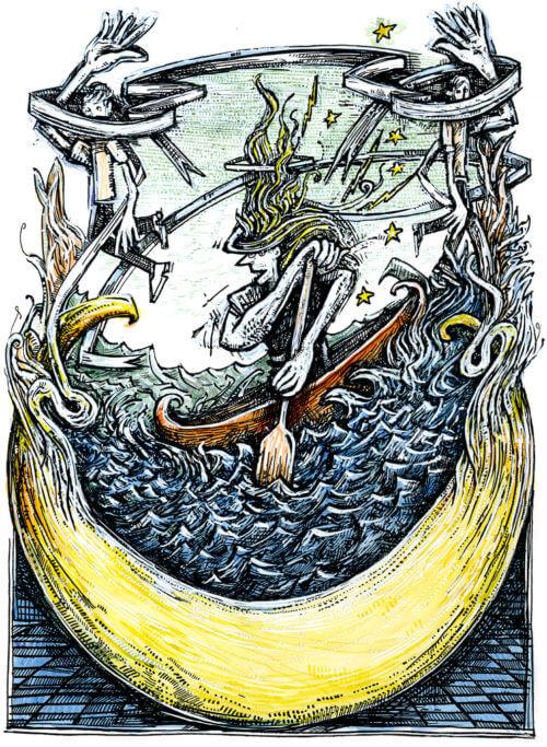 Crescent Canoeist