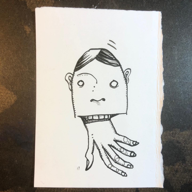 Ink Drawing - Digital Tongue