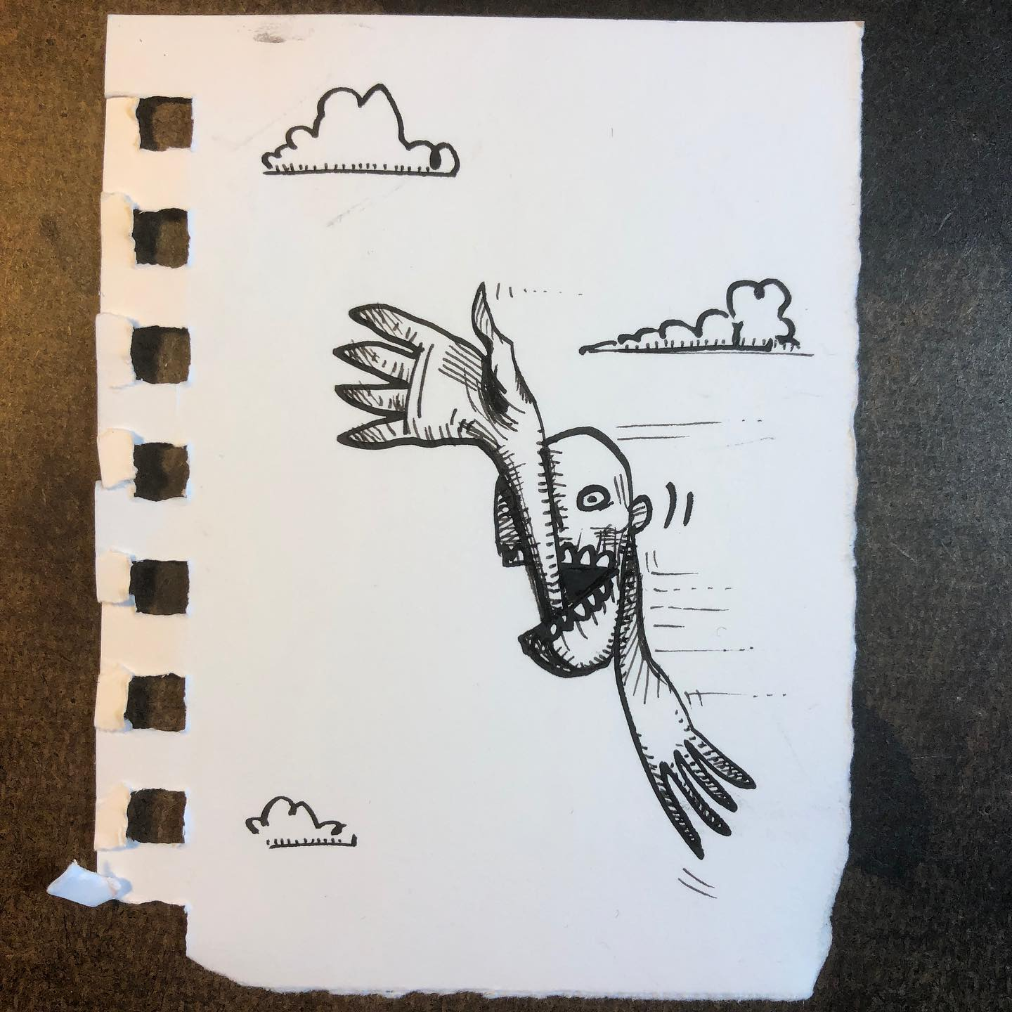 """Ink Drawing - """"Just Floating Through"""""""