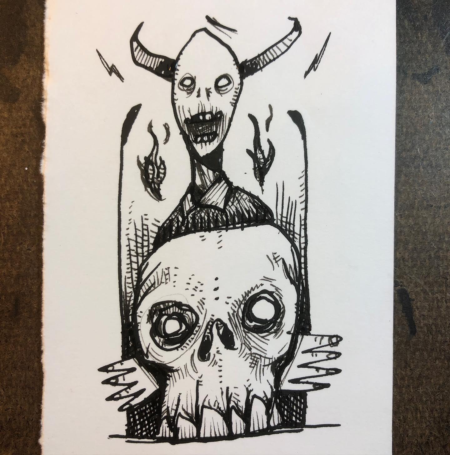 Ink Drawing - Teeth and Nails