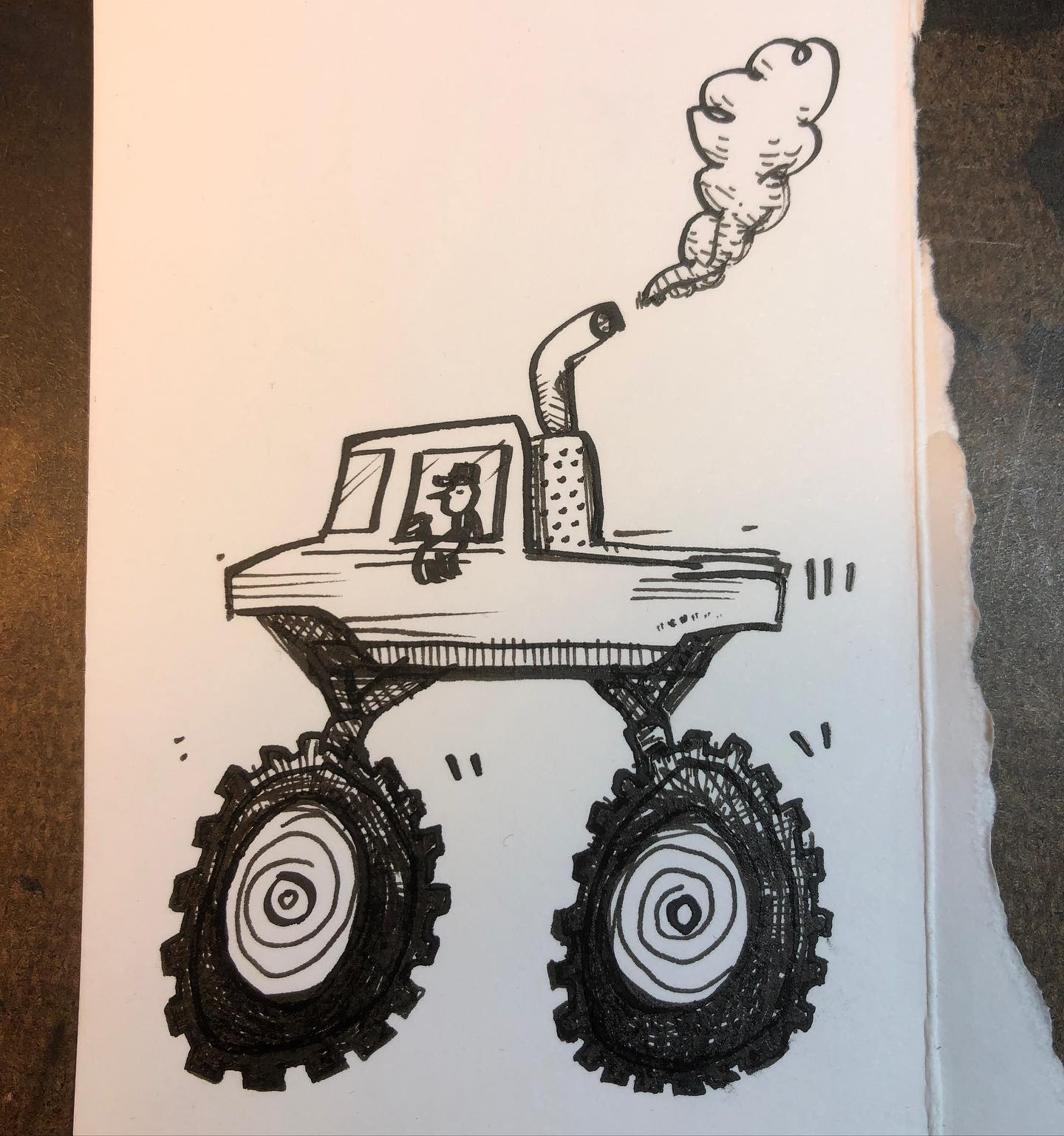 Ink Drawing - Putter
