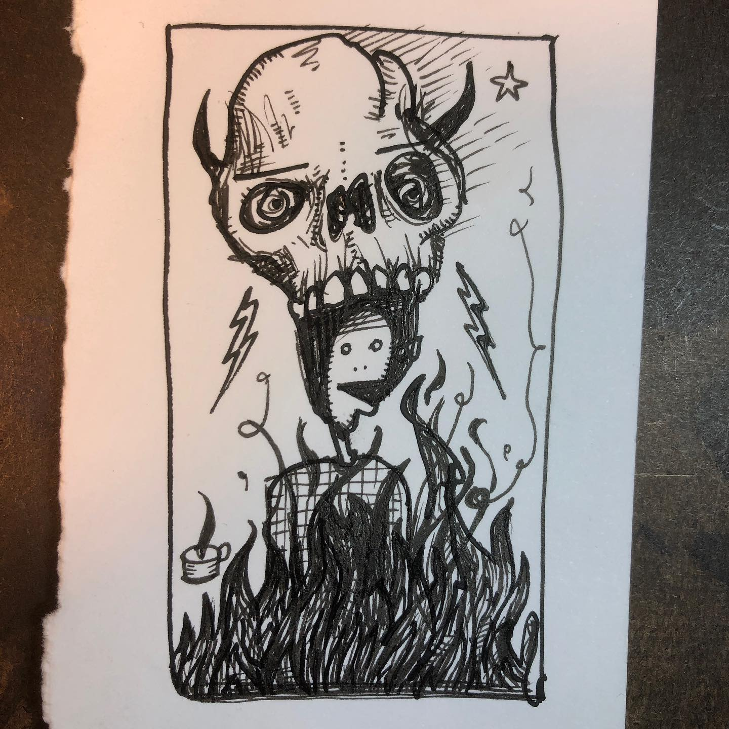 Ink Drawing - This is Fine
